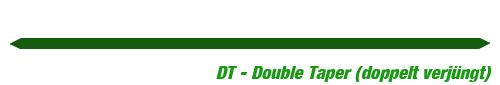Fliegenschnur DT Double Taper