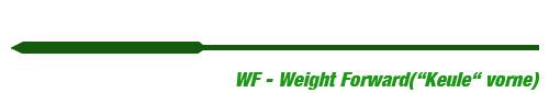 Fliegenschnur WF Weight Forward