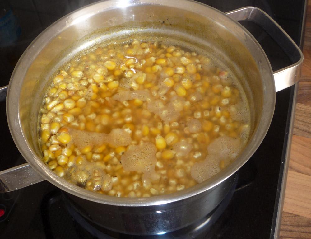 Hartmais kochen
