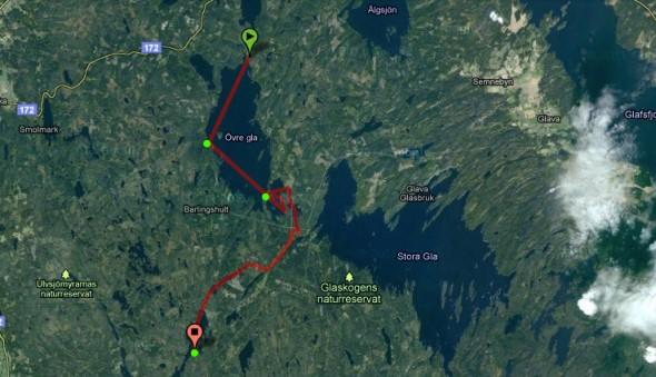Route Glaskogen Kanu-Tour